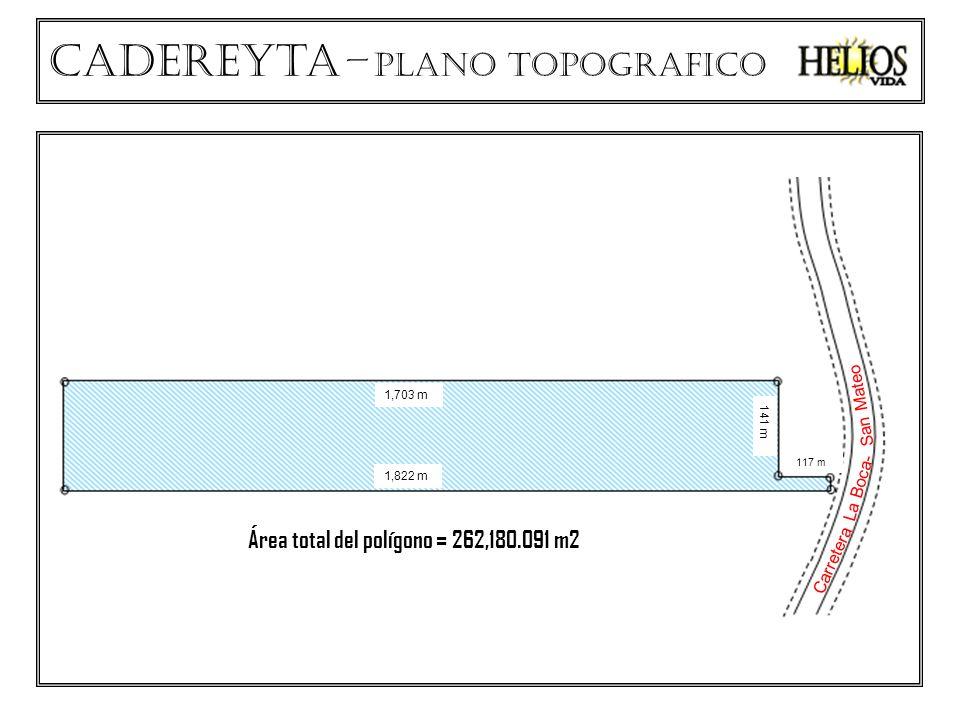 Cadereyta – plano TOPOGRAFICO