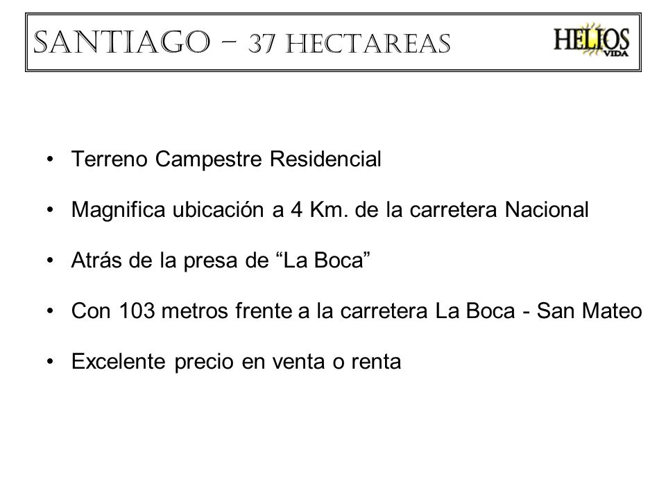 Santiago – 37 HECTAREAS Terreno Campestre Residencial