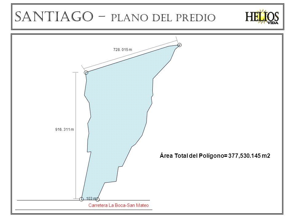 SANTIAGO – PLANO del predio