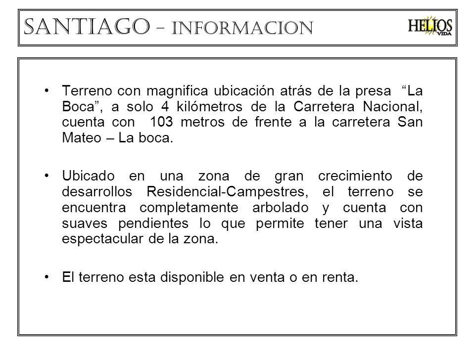 Santiago – INFORMACION