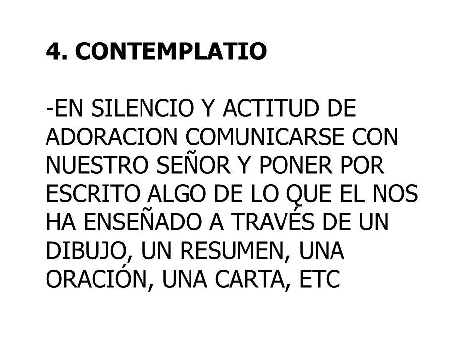 4. CONTEMPLATIO