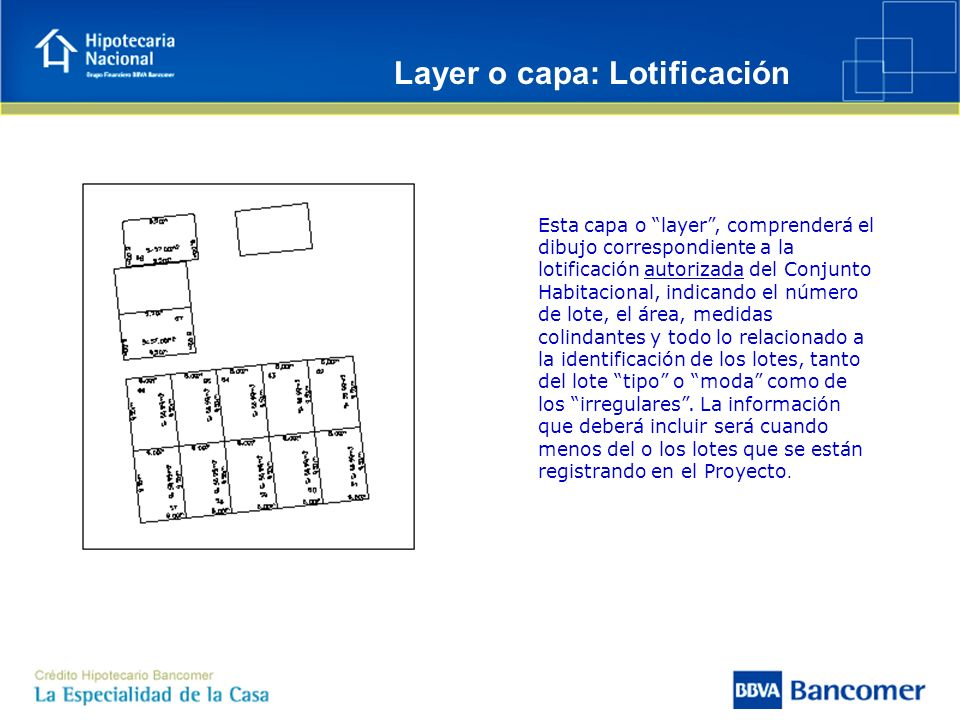 Layer o capa: Lotificación