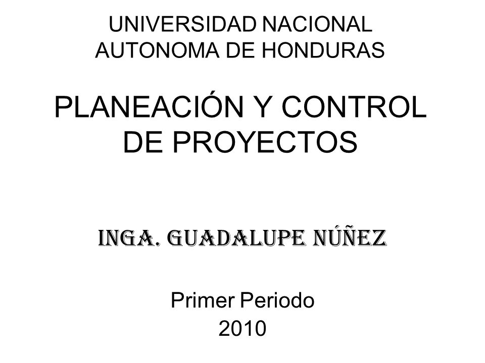 IngA. Guadalupe Núñez Primer Periodo 2010