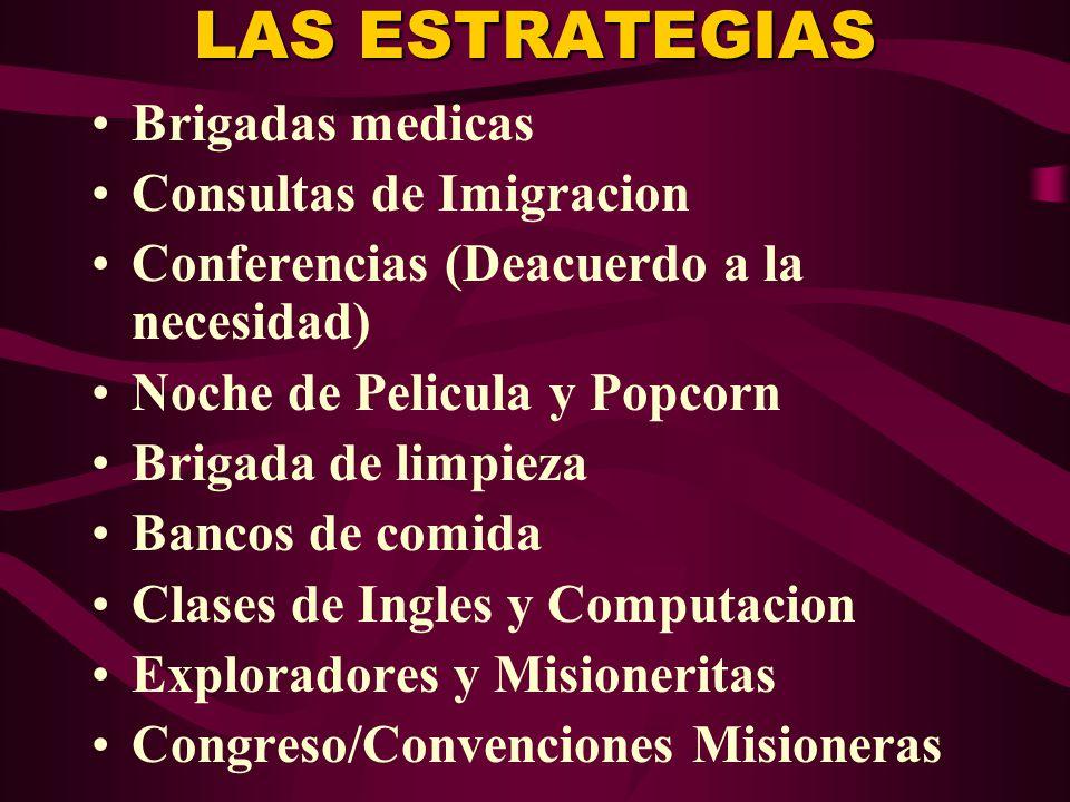 LAS ESTRATEGIAS Brigadas medicas Consultas de Imigracion