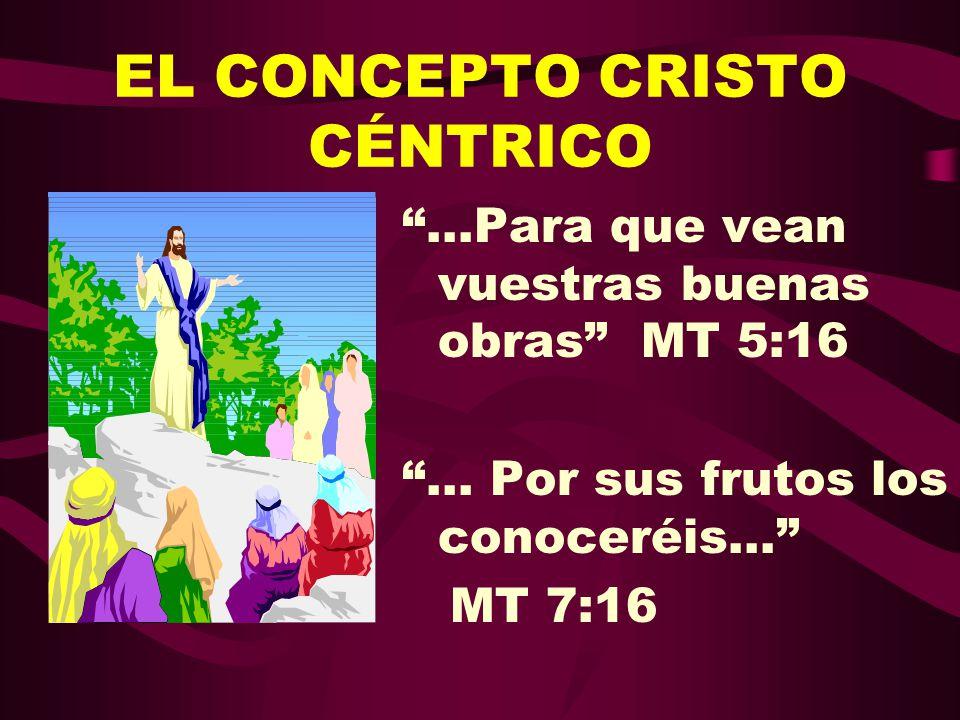 EL CONCEPTO CRISTO CÉNTRICO