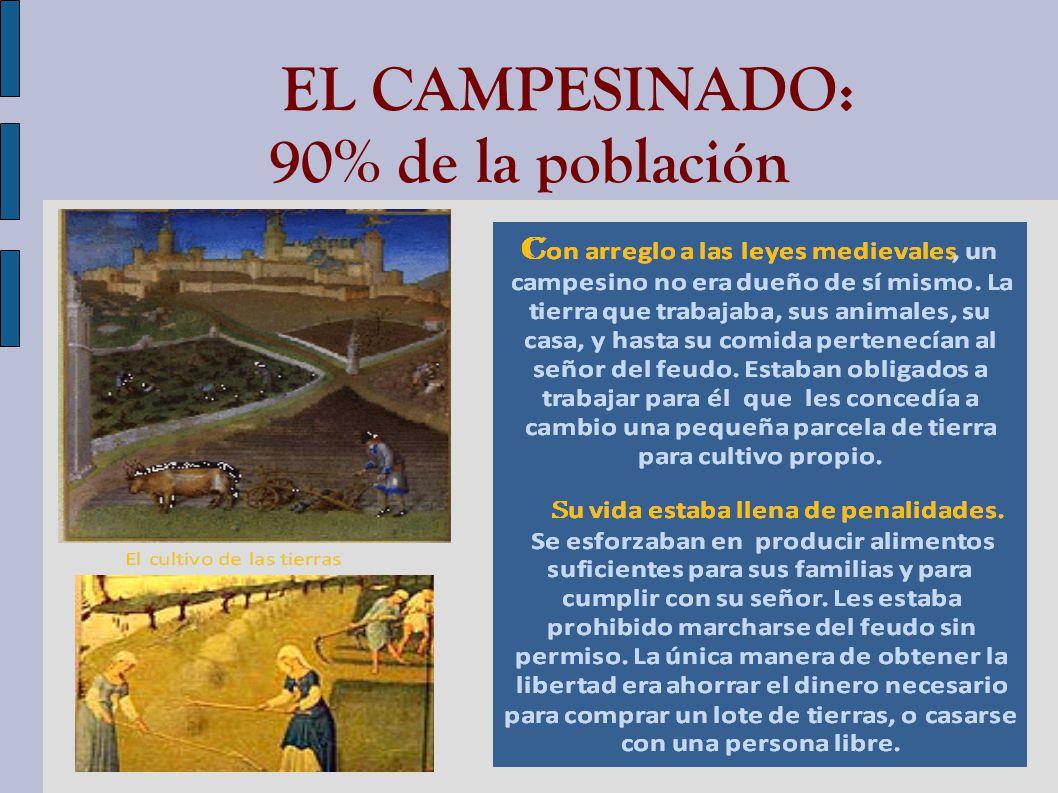 EL CAMPESINADO: 90% de la población
