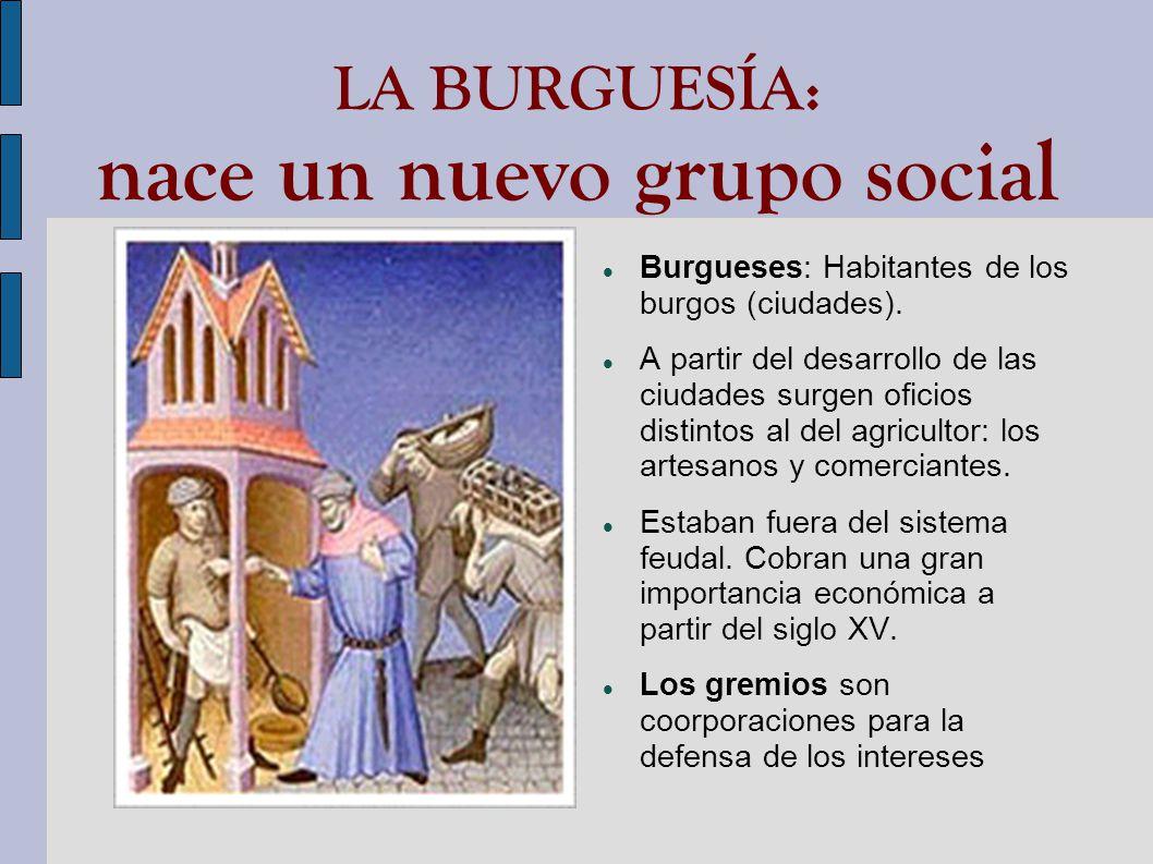 LA BURGUESÍA: nace un nuevo grupo social