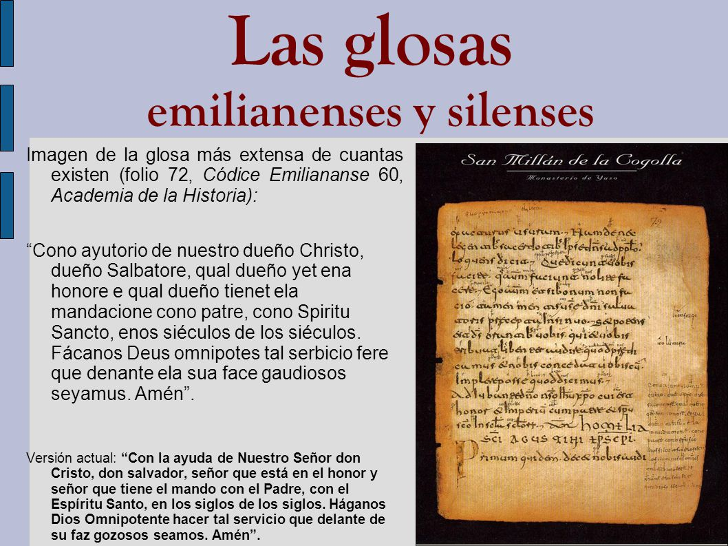 Las glosas emilianenses y silenses