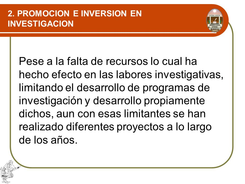 2. PROMOCION E INVERSION EN INVESTIGACION