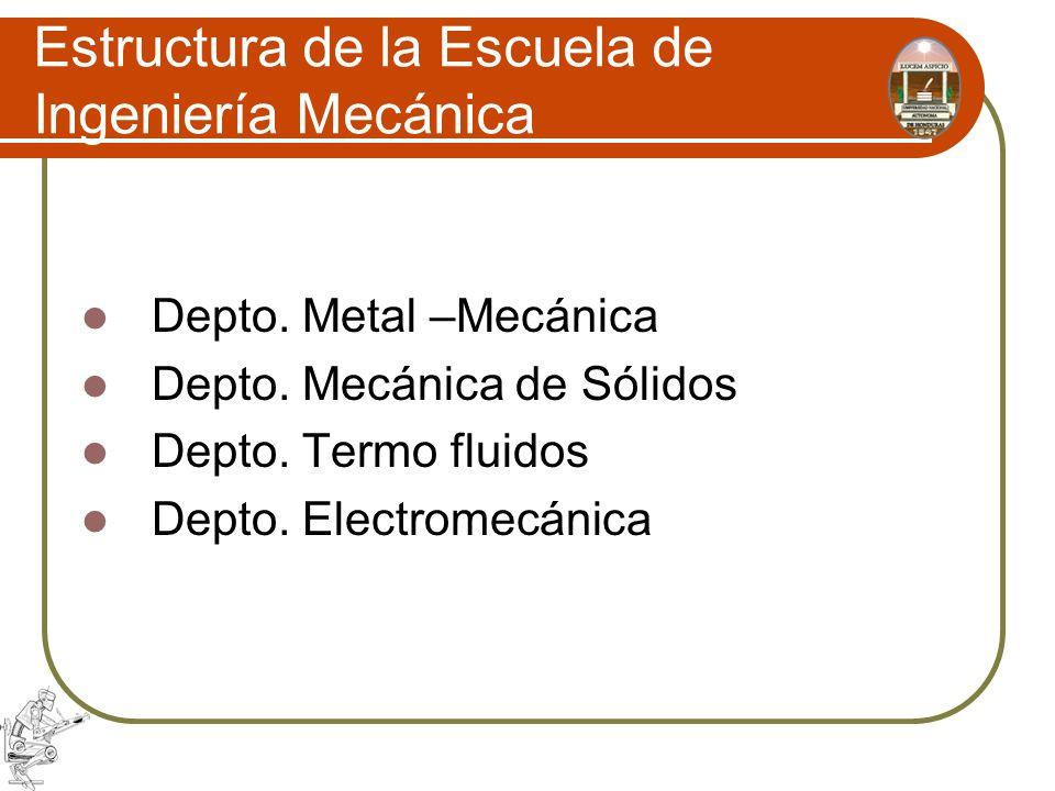 Estructura de la Escuela de Ingeniería Mecánica