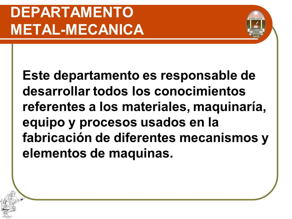 DEPARTAMENTO METAL-MECANICA