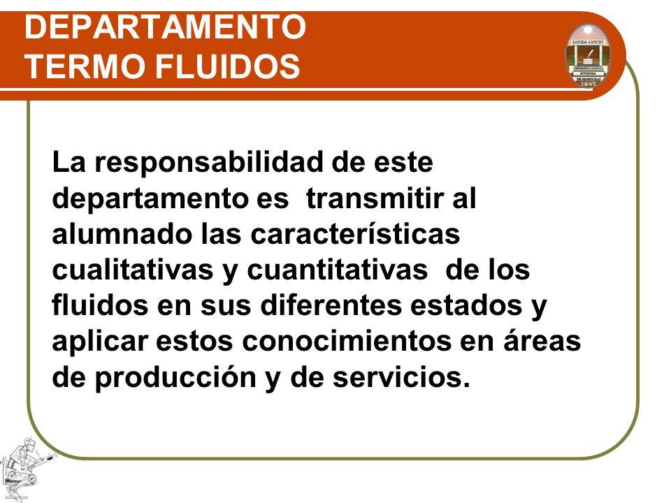 DEPARTAMENTO TERMO FLUIDOS