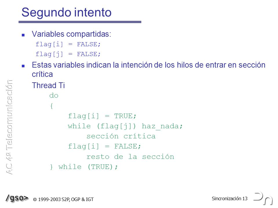 Segundo intento Variables compartidas: