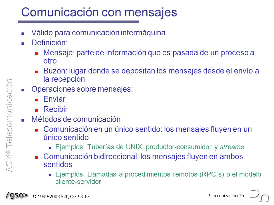 Comunicación con mensajes