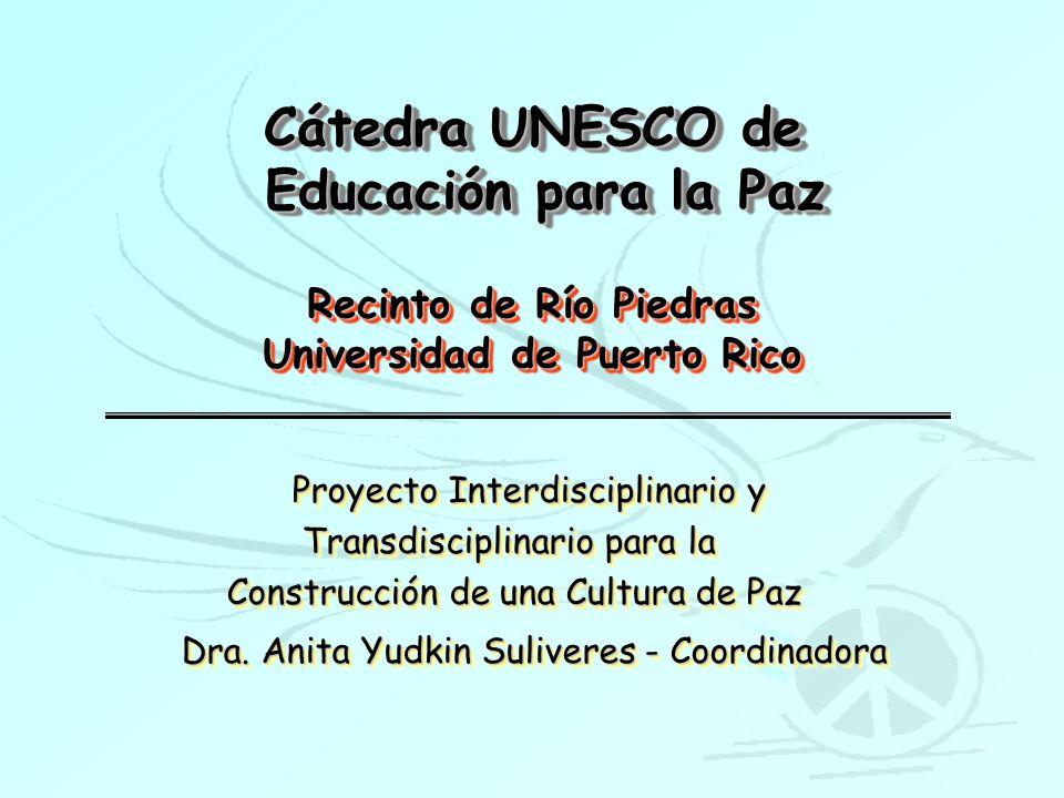 Cátedra UNESCO de Educación para la Paz