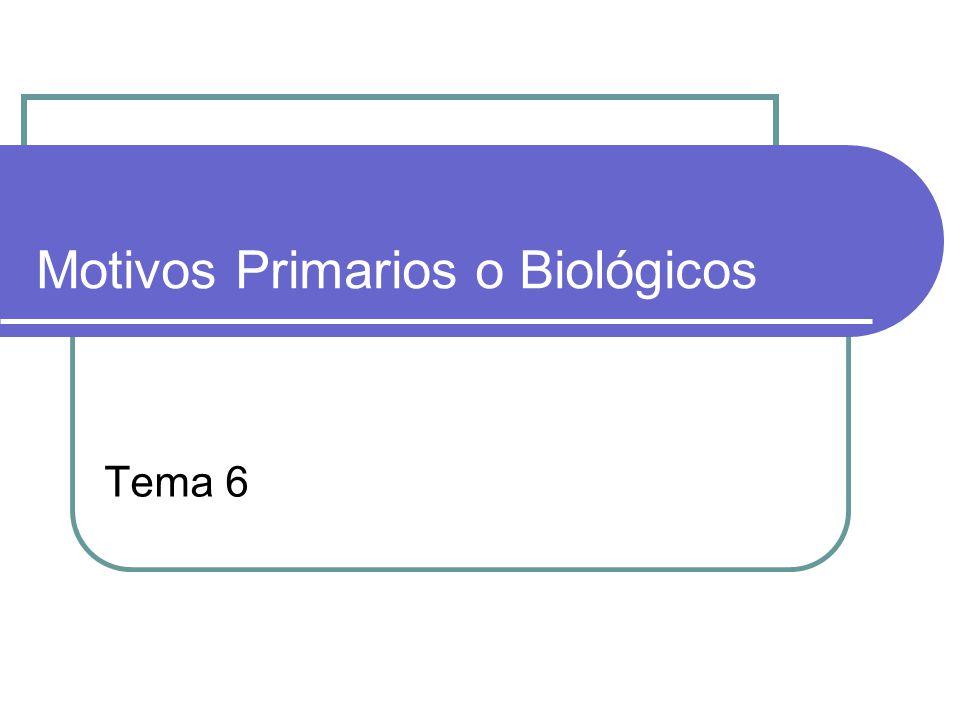 Motivos Primarios o Biológicos T