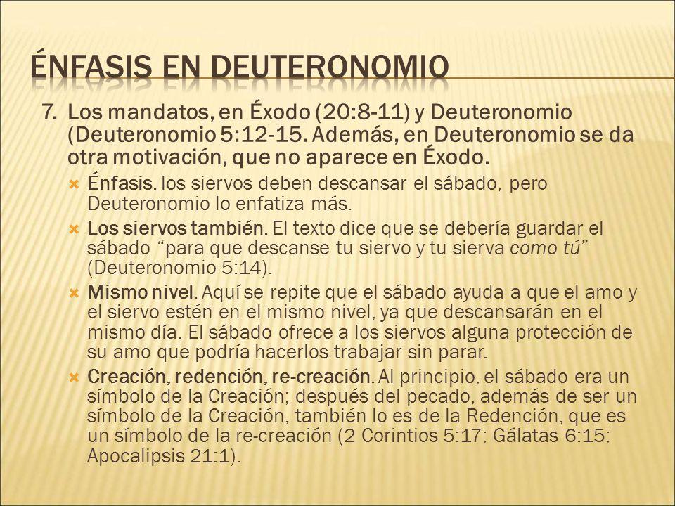 Énfasis en Deuteronomio