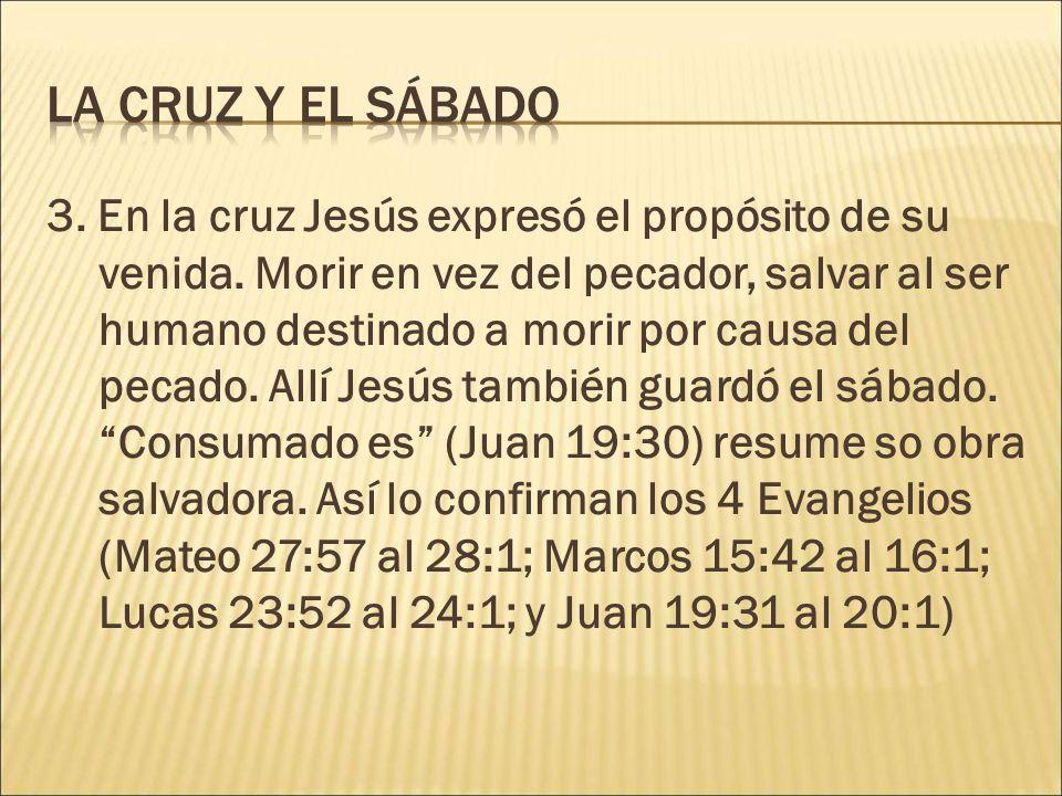 La cruz y el sábado
