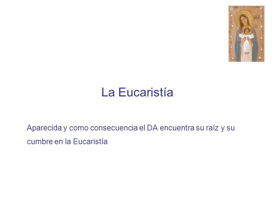 La Eucaristía Aparecida y como consecuencia el DA encuentra su raíz y su cumbre en la Eucaristía