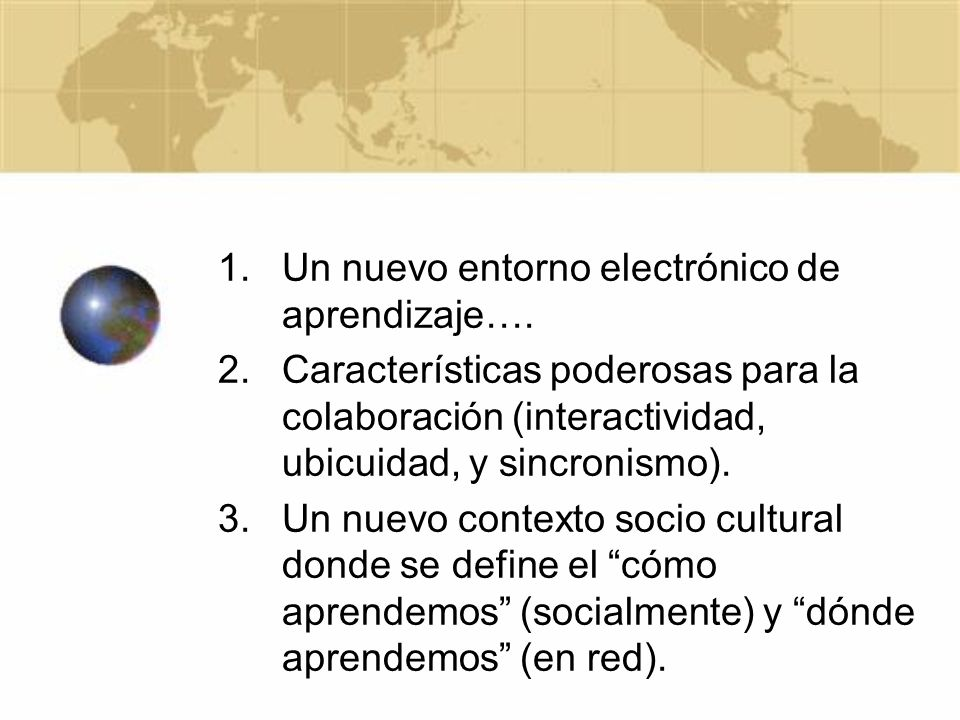 Un nuevo entorno electrónico de aprendizaje….