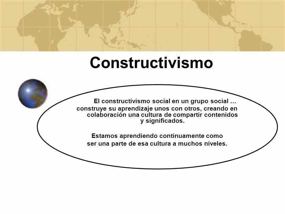 Constructivismo El constructivismo social en un grupo social …
