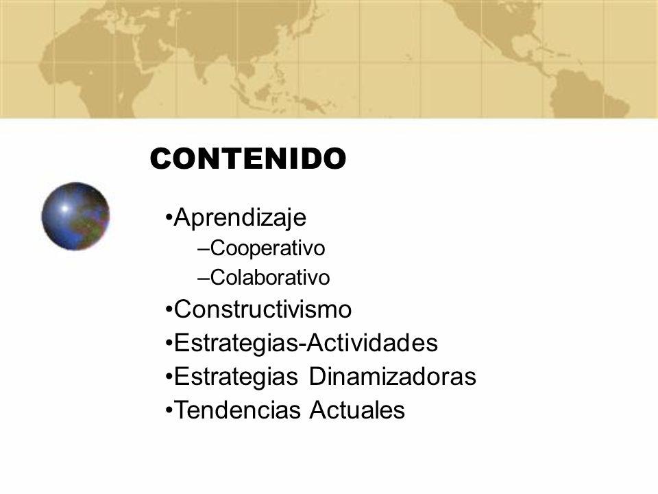 CONTENIDO Aprendizaje Constructivismo Estrategias-Actividades