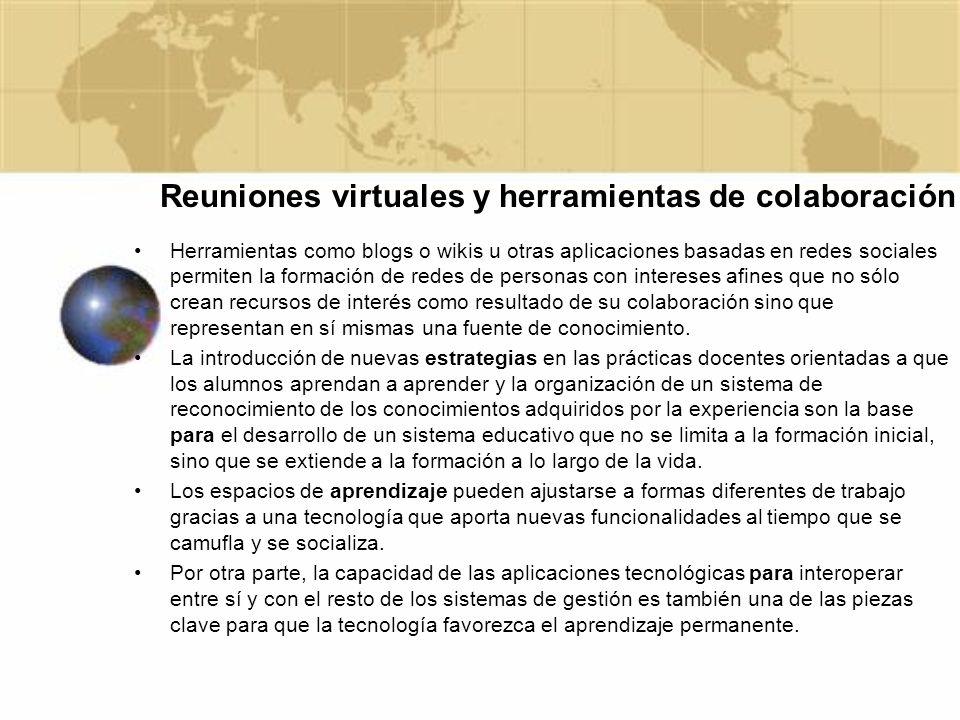 Reuniones virtuales y herramientas de colaboración
