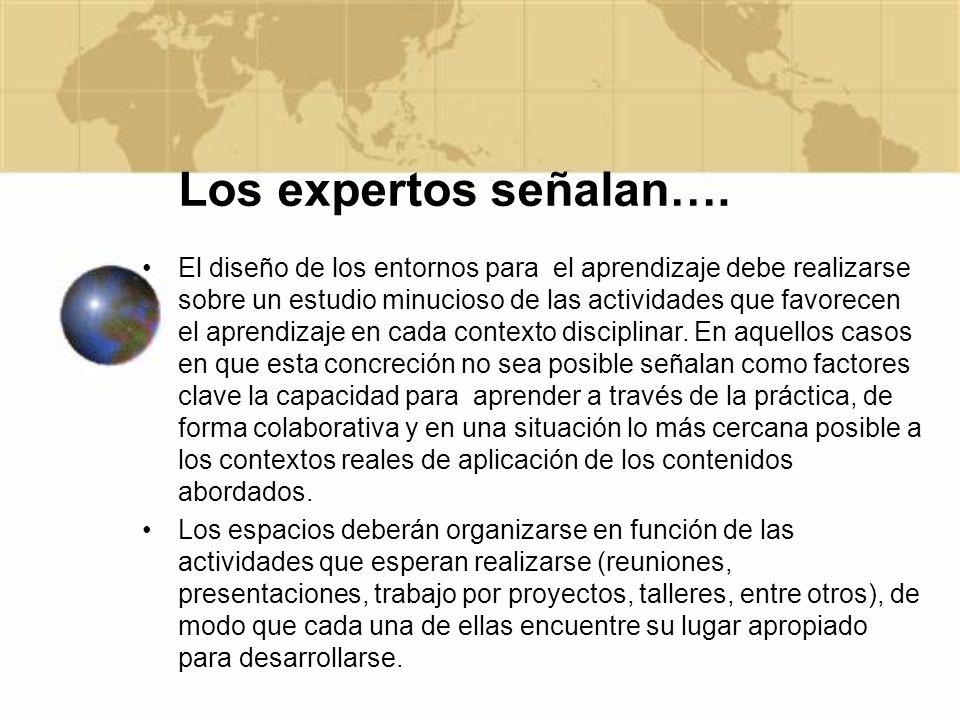 Los expertos señalan….