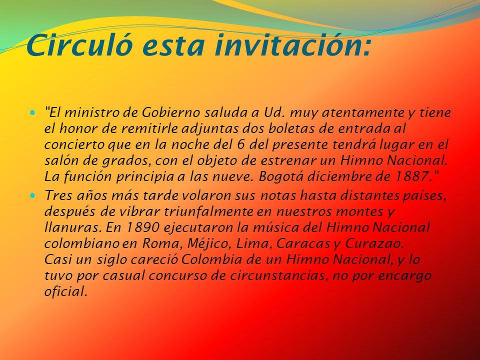 Circuló esta invitación: