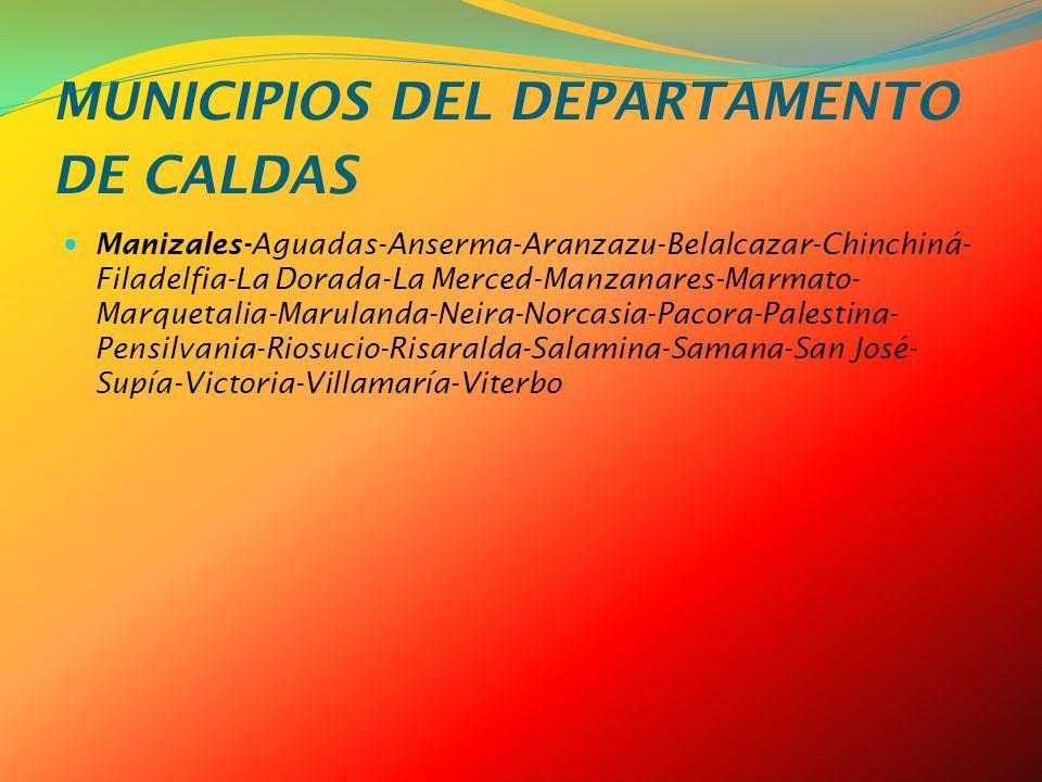 MUNICIPIOS DEL DEPARTAMENTO DE CALDAS