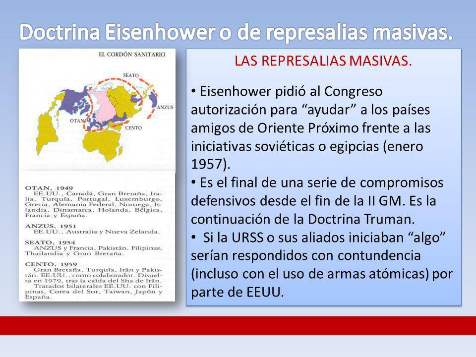Doctrina Eisenhower o de represalias masivas.