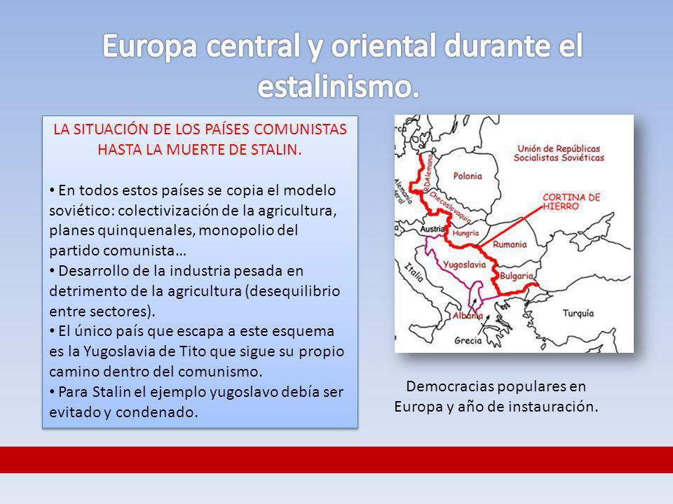 Europa central y oriental durante el estalinismo.