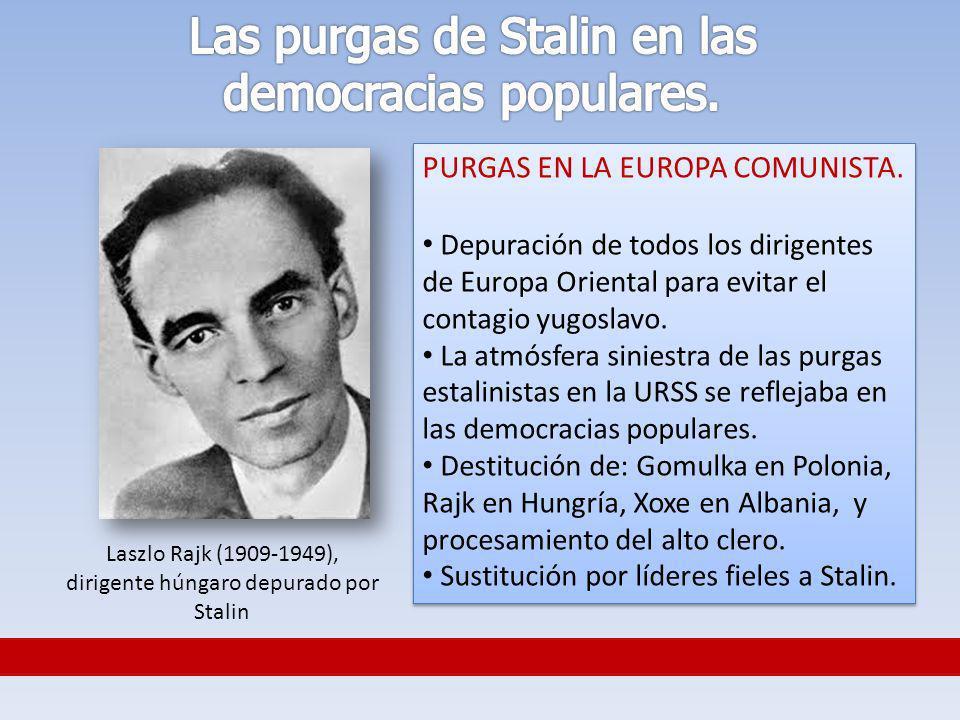 Las purgas de Stalin en las democracias populares.