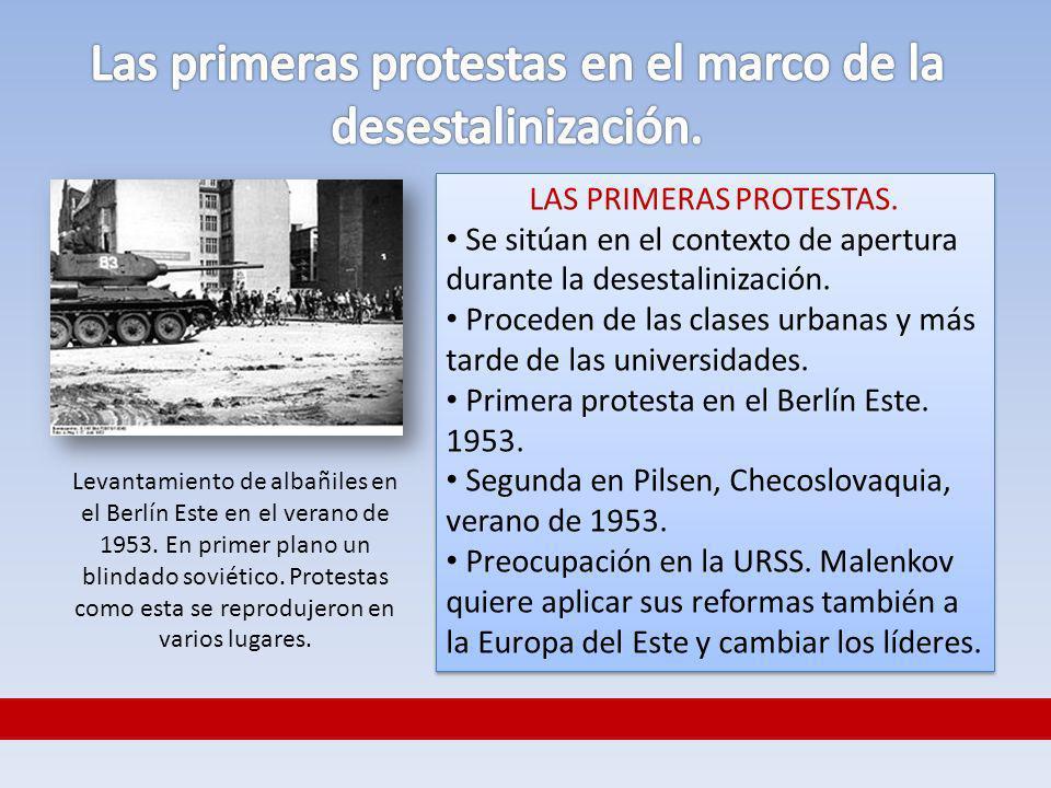 Las primeras protestas en el marco de la desestalinización.