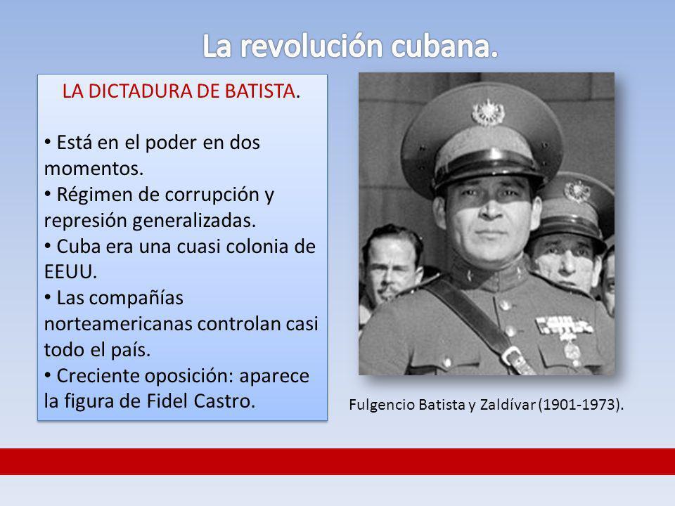 La revolución cubana. LA DICTADURA DE BATISTA.