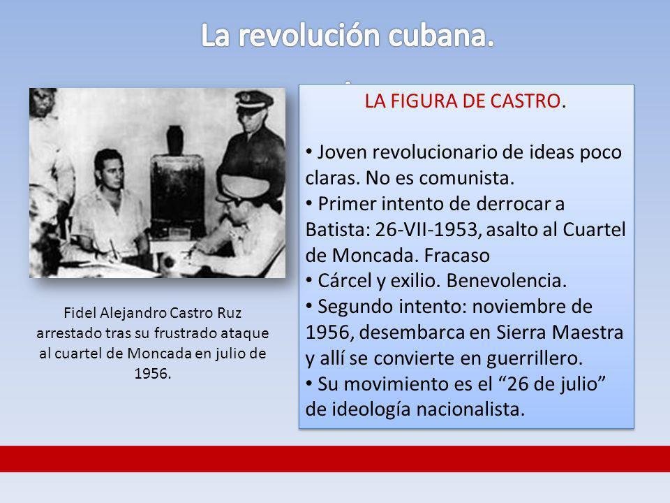 La revolución cubana. . LA FIGURA DE CASTRO.