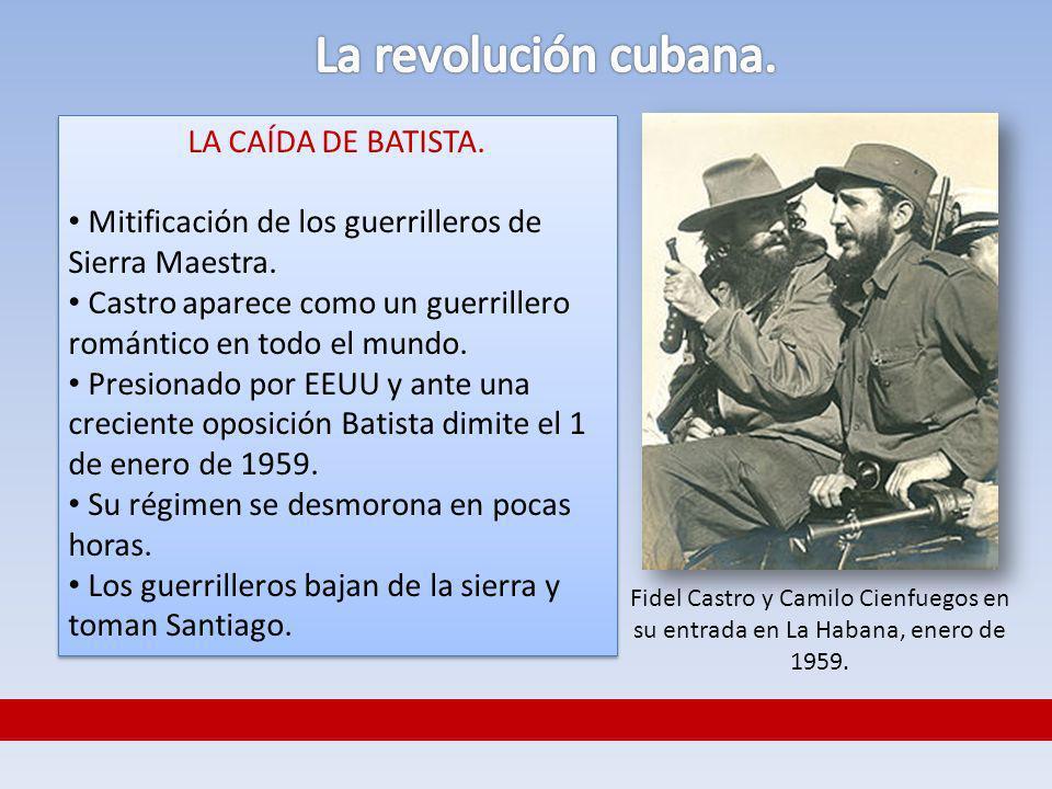 La revolución cubana. LA CAÍDA DE BATISTA.