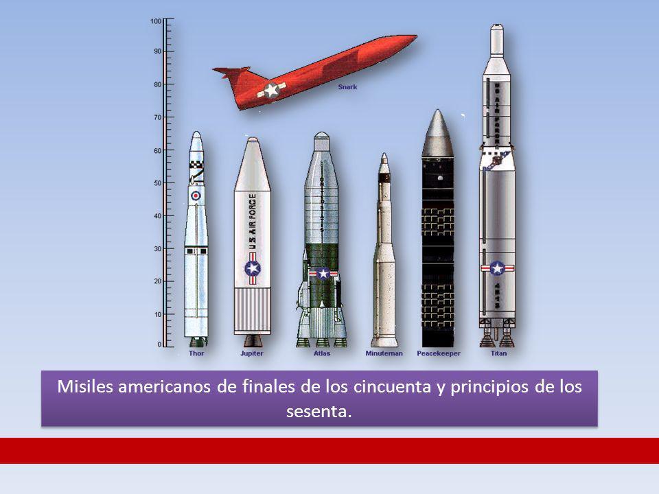 Misiles americanos de finales de los cincuenta y principios de los sesenta.