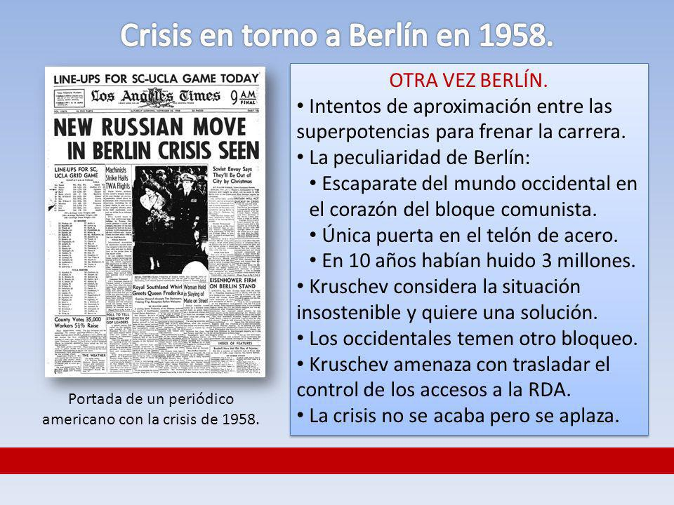 Crisis en torno a Berlín en 1958.