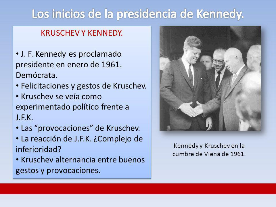 Los inicios de la presidencia de Kennedy.