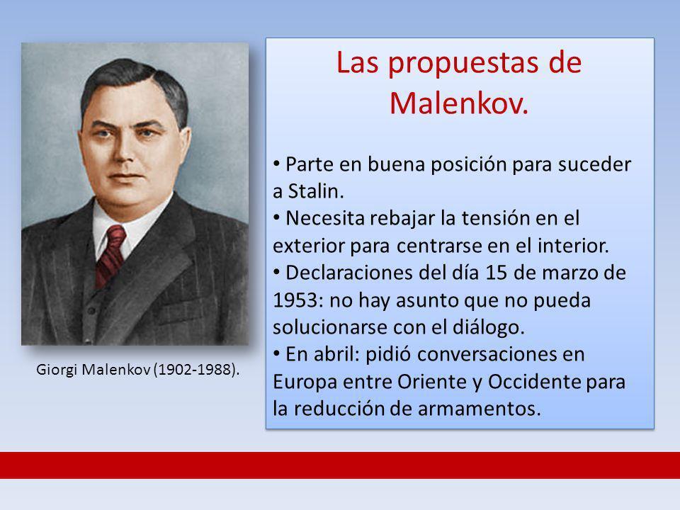 Las propuestas de Malenkov.