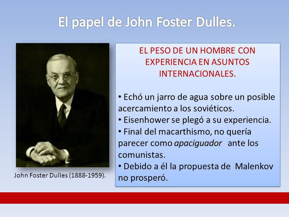 El papel de John Foster Dulles.