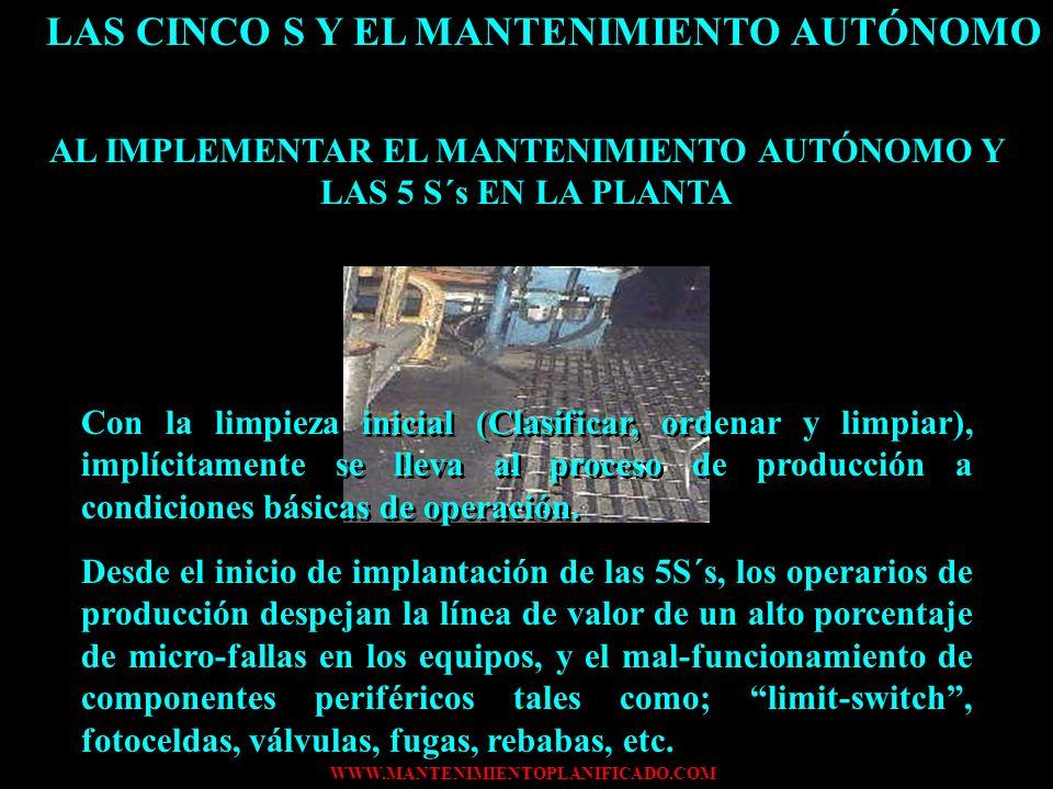 LAS CINCO S Y EL MANTENIMIENTO AUTÓNOMO