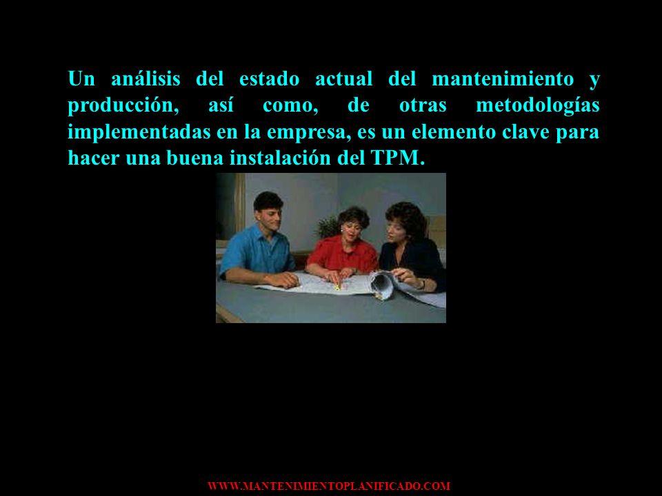 Un análisis del estado actual del mantenimiento y producción, así como, de otras metodologías implementadas en la empresa, es un elemento clave para hacer una buena instalación del TPM.