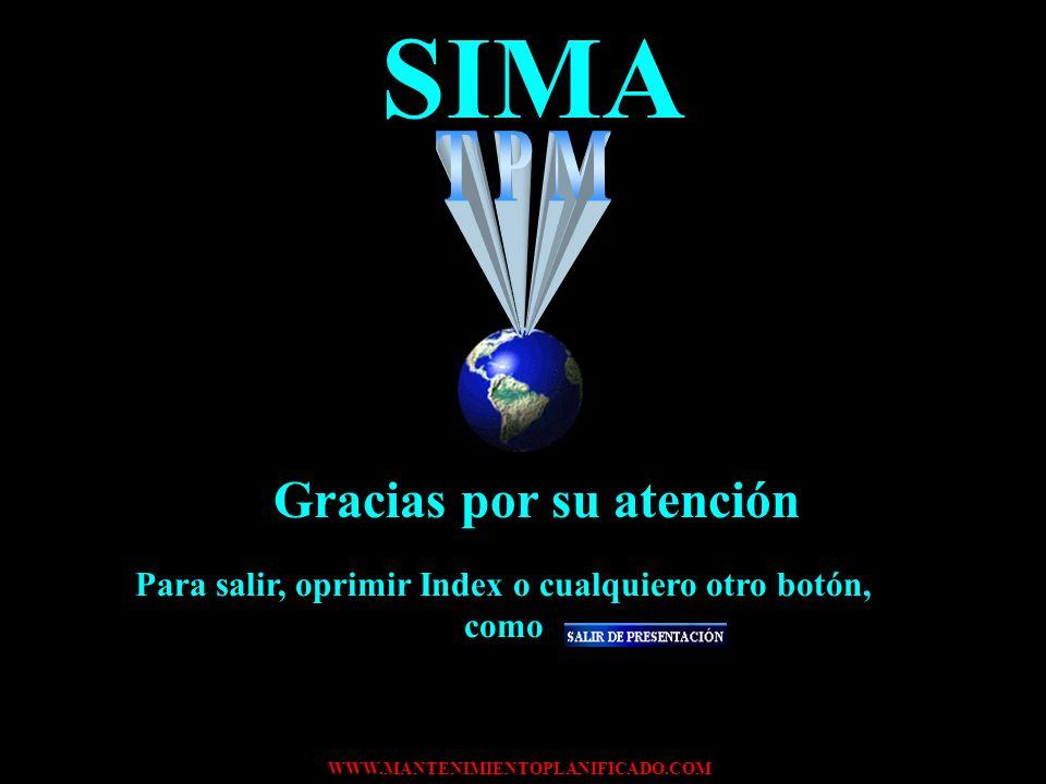 SIMA Gracias por su atención TPM