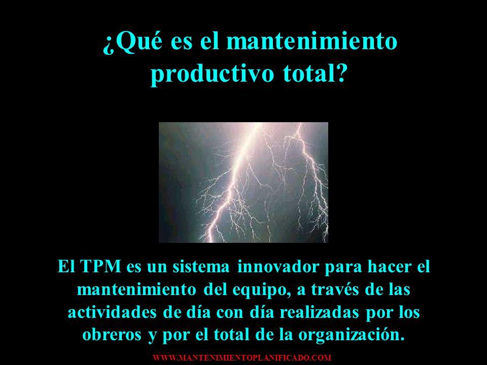¿Qué es el mantenimiento productivo total