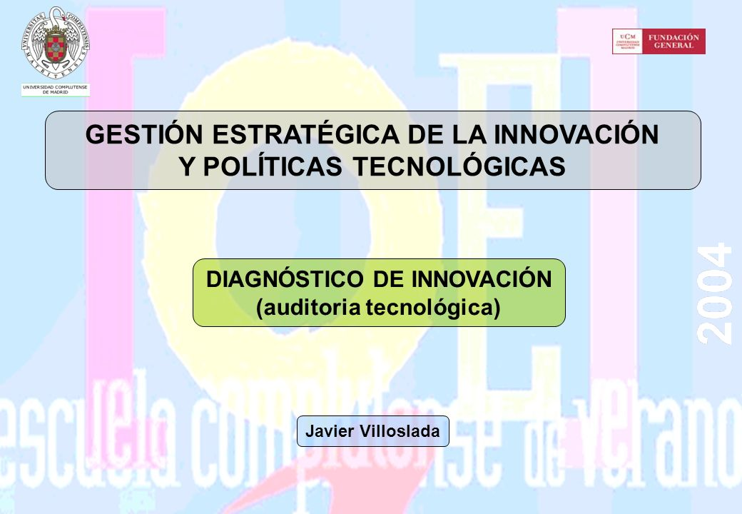 GESTIÓN ESTRATÉGICA DE LA INNOVACIÓN Y POLÍTICAS TECNOLÓGICAS