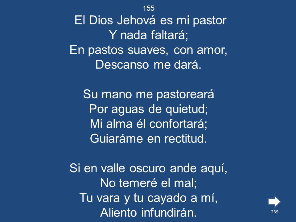El Dios Jehová es mi pastor Y nada faltará;