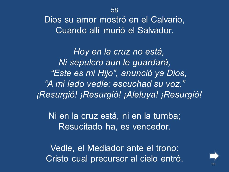 Dios su amor mostró en el Calvario, Cuando allí murió el Salvador.