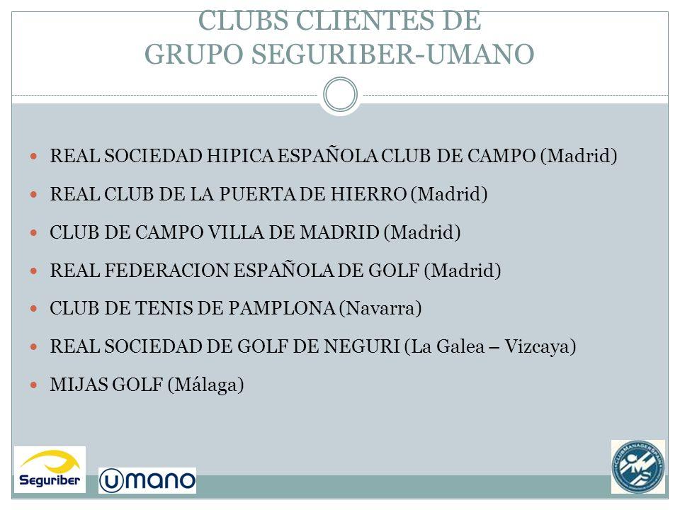 CLUBS CLIENTES DE GRUPO SEGURIBER-UMANO
